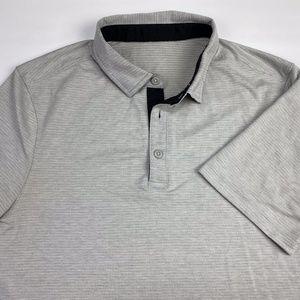 Lululemon Men's Short Sleeve Polo Size S/M Grey